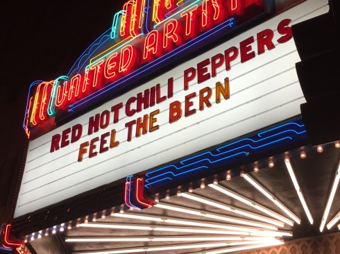 Red Hot chili Peppers fundraiser for bernie sanders los angeles ace hotel